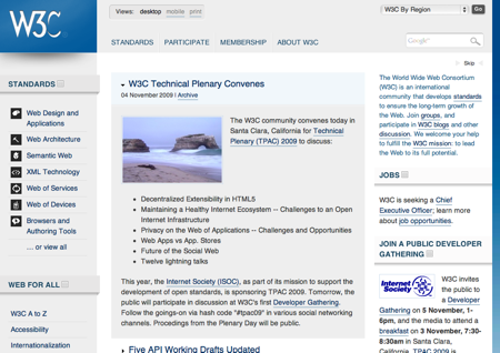w3c site