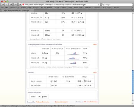 Wolfram Alpha 検索結果3