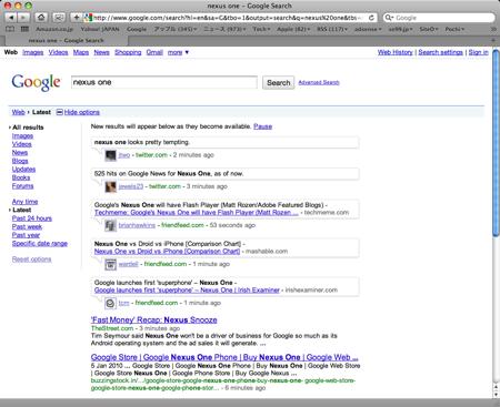 Google リアルタイム検索